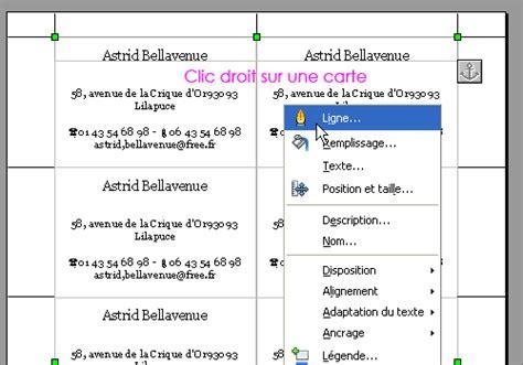 Carte De Visite Open Office by Modele Carte De Visite Openoffice