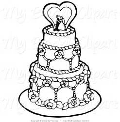 wedding cake coloring pages tiered cake colouring pages