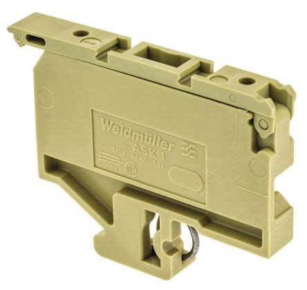 weidmuller resistor terminal block ask 1 376760000 weidmuller fused din rail terminal ask series 300 v 10a 5 x 20 fuse