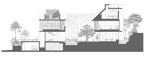 Section In by Gallery Of The Courtyard House Formwerkz Architects 16