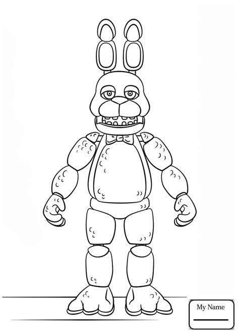 Fnaf 7 Coloring Pages by Bonnie Fnaf Free Colouring Pages