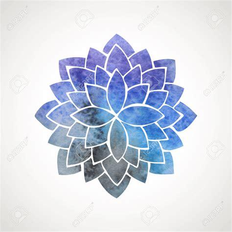 mandalas mas vergas acuarela flor de loto con el fondo del espacio s 237 mbolo de
