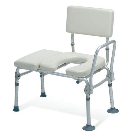 padded shower transfer bench guardian padded transfer bench with commode opening