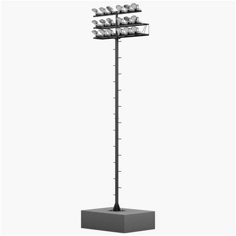 Stadium Lighting Fixtures Obj