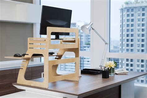 Adjustable Plywood Standing Desk For Home Office Plywood Office Desk