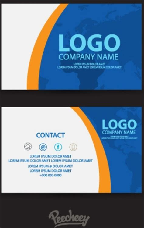 blue business card template blue business card template free vector in adobe