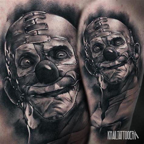 realistyczne clown tatuaże idea tatuo pinterest