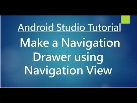 new boston android studio tutorial youtube android studio tutorial 73 create navigation drawer
