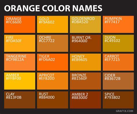 unique color names orange color names graf1x