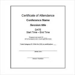 Conference Certificate Of Attendance Template 6 Attendance Certificate Templates Download Free