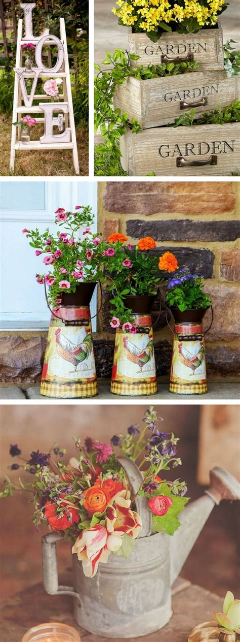vintage garden decor ideas  give  outdoor space