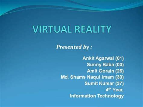 powerpoint templates for virtual reality virtual reality seminar 1 authorstream