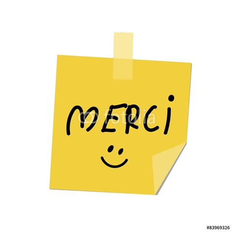 Children Wall Stickers merci paint on post it wall sticker wall stickers