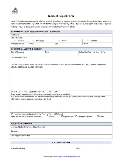 incident report template free templates in doc ppt pdf