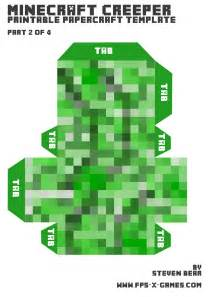 Creeper Template by The Gallery For Gt Minecraft Creeper Texture Template