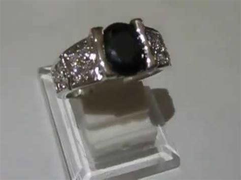 cincin black sapphire 65 cincin pria ring 9us gold filled black sapphire imitasi