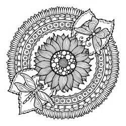 summer mandala coloring pages 48776357 circle summer doodle flower ornament hand