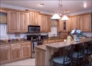 Hickory Wood Cabinets Kitchens Cabinet Amp Shelving Hickory Kitchen Cabinets With Flower