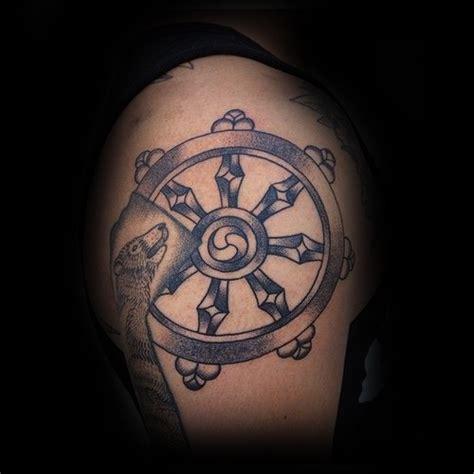 40 rueda de dharma dise 241 os de tatuajes para los hombres