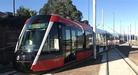 when the road with a light rail vehicle you light rail vehicle arrives in sydney