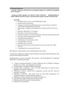 Instrumentation Engineer Cover Letter by Instrumentation Technician Cover Letter