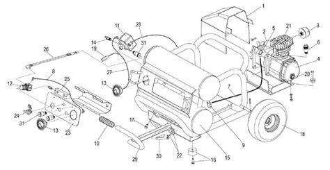 coleman powermate bs air compressor parts