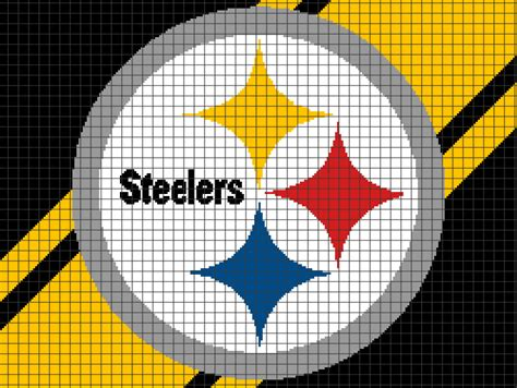 crochet pattern steelers logo pittsburgh steelers chart graph and row by row written