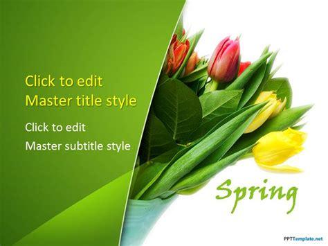 flower ppt template free crocus flower ppt template