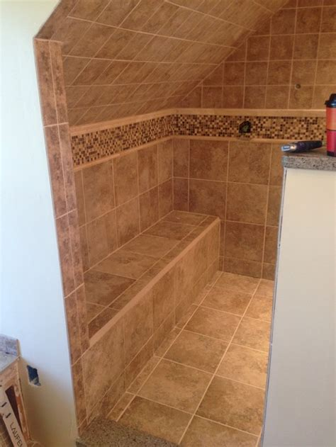 tile shower bench ideas master bath shower bench ideas