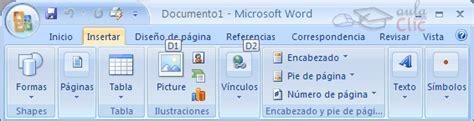 como insertar imagenes y simbolos en word curso gratis de microsoft word 2007 b 225 sico las barras de