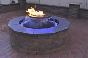 water fire pit evolution 360 gas fire pit with water feature fine s gas