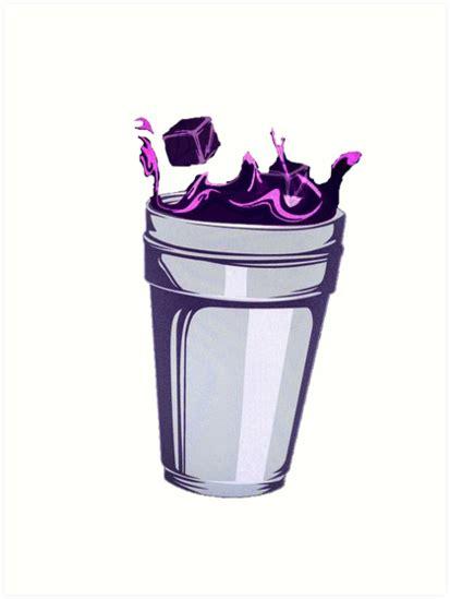 Home Decor Purple Quot Lean Double Cup Quot Art Prints By Safeaf Redbubble