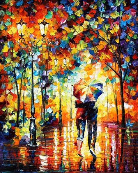 painting images the fusion of colors in leonid afremov s nostalgic oil