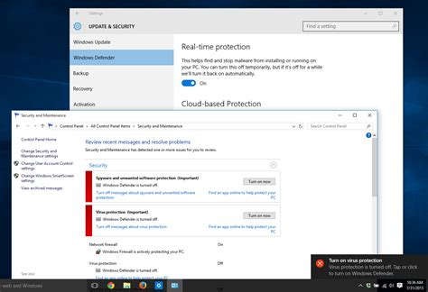 how to a security windows defender turn on or in windows 10 windows