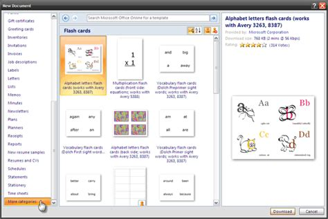 Flash Card Template For Word 2007 by How To Make Index Cards In Microsoft Word 2007