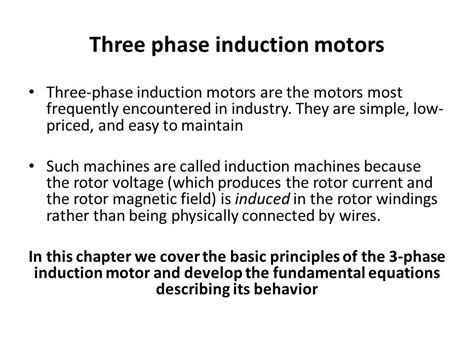 basic working principle of induction motor three phase induction motors ppt