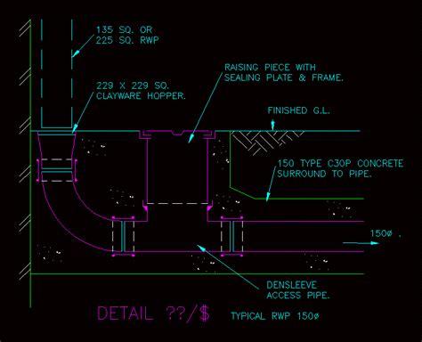 drainage dwg detail  autocad designs cad
