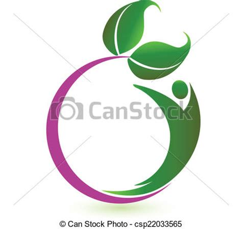 nature clip art royalty free gograph clip art vector of health nature logo vector csp22033565