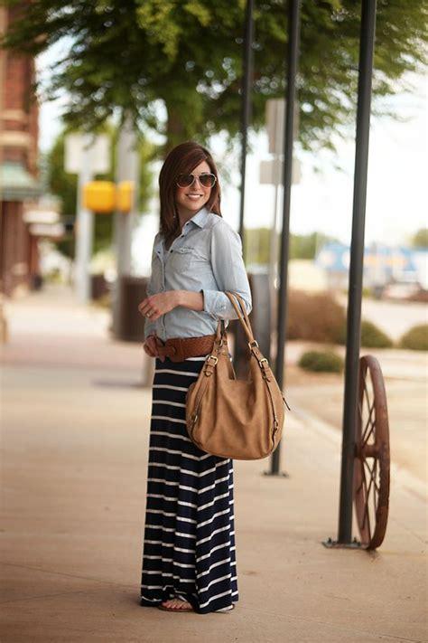 chambray shirt navy maxi skirt scissortail silk style