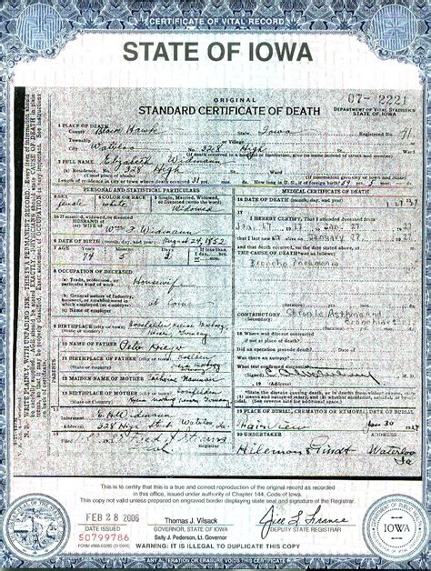 Iowa Genealogy Marriage Records Iowa Birth Certificate