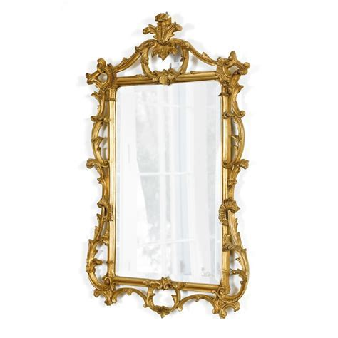 Antique Gold Leaf Regency Mirror   Mirrors   Mirrors