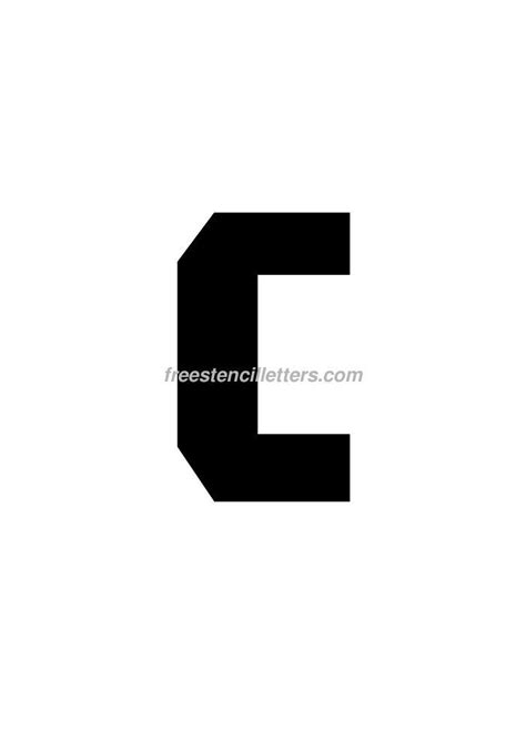 printable letter stencils 8 inch stencil letters w printable free print 8 inch c letter