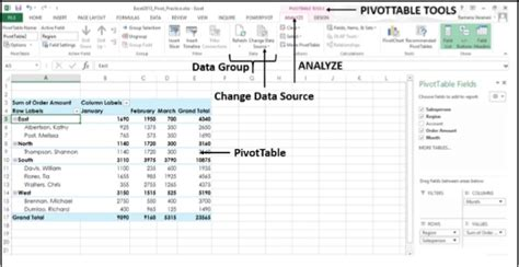 pivot table excel 2010 tutorial advanced advanced excel pivot table tools