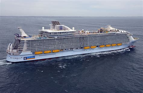 largest cruise ship world s largest cruise ship joins royal caribbean s fleet