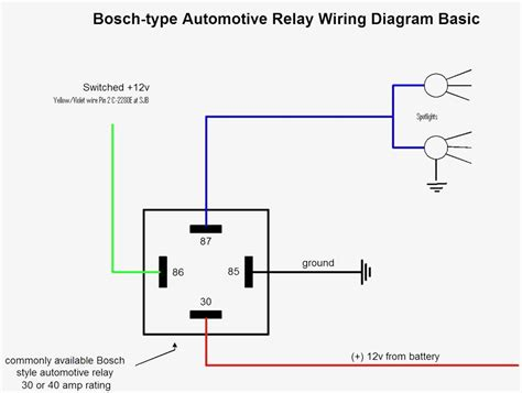 car relay wiring diagram wiring diagram with description
