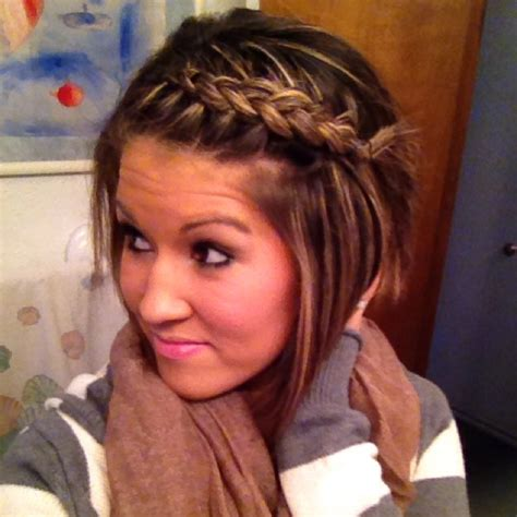 braided bangs bang side braid hair and beauty pinterest bangs