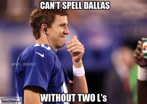 Eli Manning Memes - dallas cowboys two l s meme eli manning fantasy