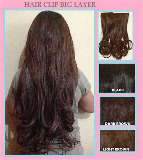 Hair Clip Big Layer Lurus jual hair clip big layer and curly bellezzeshop