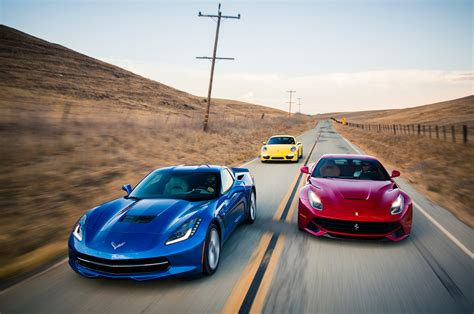 ferrari porsche 2014 chevrolet corvette stingray z51 vs 2014 ferrari f12