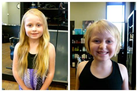 cut and inch off hair my 6 year old daughter cut off over 13 inches of her hair